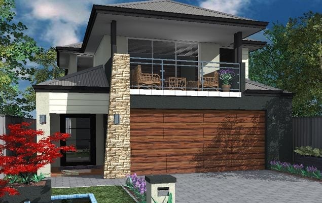 Double storey home design 10m frontage jfk construction for Vermont home designs