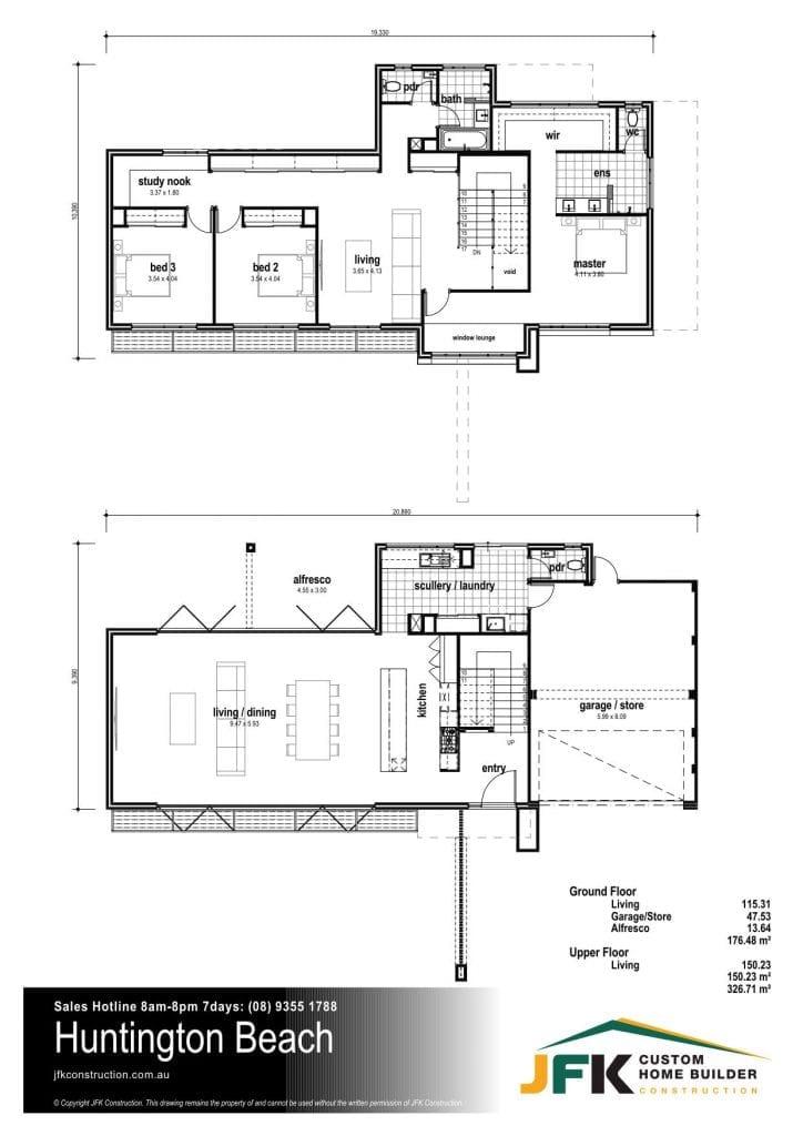 huntington beach floor plan