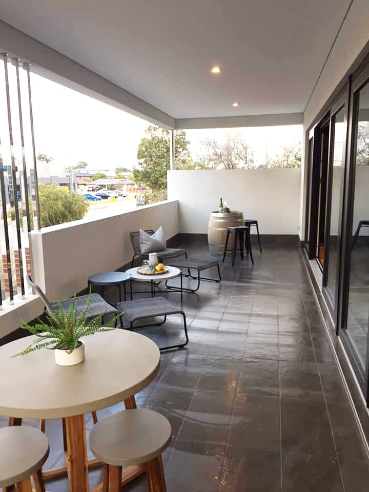 The Vale Balcony - JFK Construction Display Home Perth