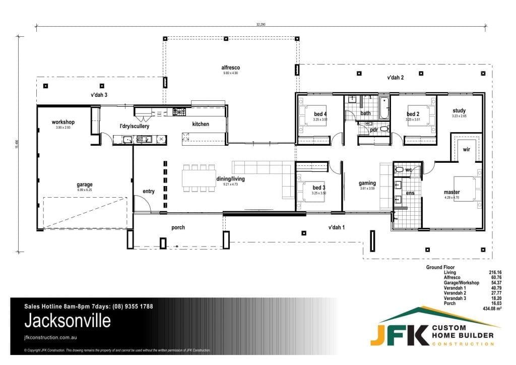jacksonville F1 floor plan