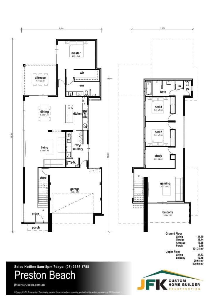 Preston beach floor plan