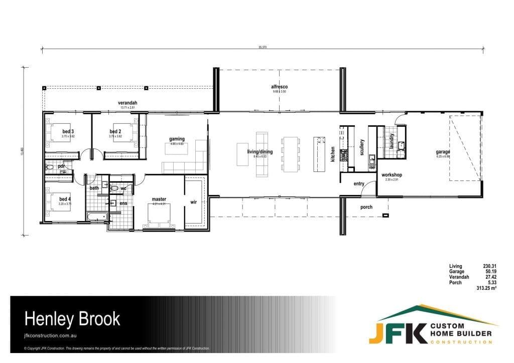 henley brook F1 floor plan